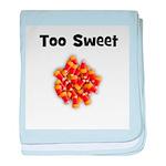 Too Sweet (candy corn) baby blanket
