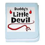 Daddy's Little Devil baby blanket