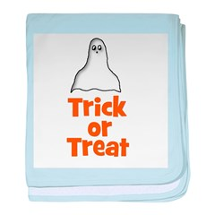 Trick or Treat (ghost) baby blanket