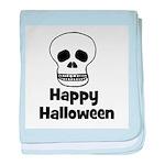 Happy Halloween (skull) baby blanket