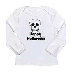 Happy Halloween (skull) Long Sleeve Infant T-Shirt