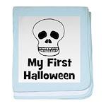 My First Halloween (skull) baby blanket