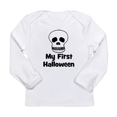 My First Halloween (skull) Long Sleeve Infant T-Sh