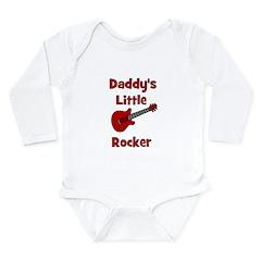Daddy's Little Rocker Long Sleeve Infant Bodysuit