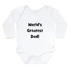 World's Greatest Dad! Long Sleeve Infant Bodysuit