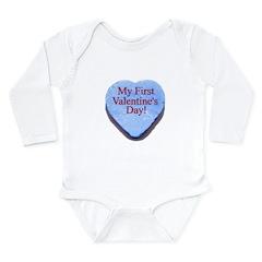 My First Valentine's Day Long Sleeve Infant Bodysu