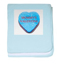Blue Candy Heart - Mommy's Va baby blanket