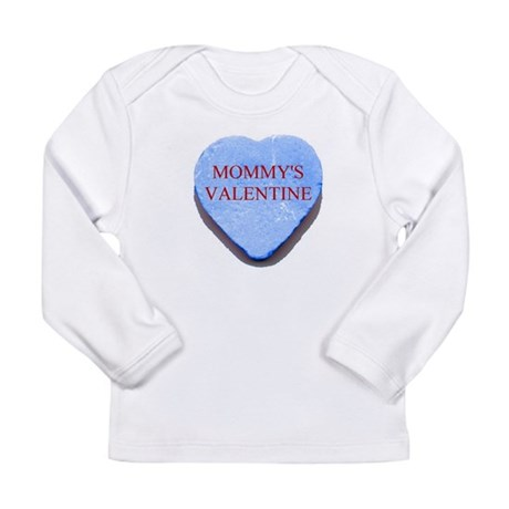 Blue Candy Heart - Mommy's Va Long Sleeve Infant T