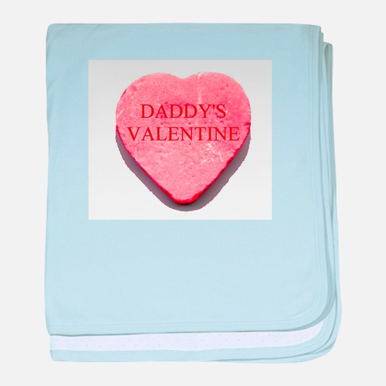 Red Candy Heart - Daddy's Val baby blanket