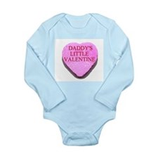 Candy Heart - Daddy's Little Long Sleeve Infant Bo