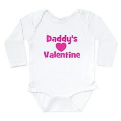 Daddy's Valentine Long Sleeve Infant Bodysuit