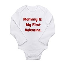 Mommy Is My First Valentine Baby Outfits