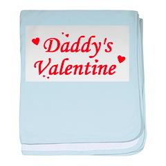 Daddy's Valentine baby blanket