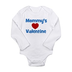 Mommy's Valentine - Red Heart Long Sleeve Infant B