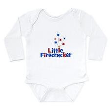 Little Firecracker! Long Sleeve Infant Bodysuit