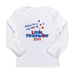 Baby's 1st July 4th! 2011 Long Sleeve Infant T-Shi