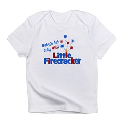 Baby's 1st July 4th! Little F Infant T-Shirt