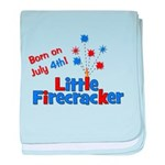 Born on July 4th Little Firec baby blanket