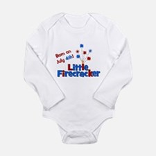 Born on July 4th Little Firec Long Sleeve Infant B