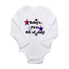 Baby's First 4th of July! Long Sleeve Infant Bodys