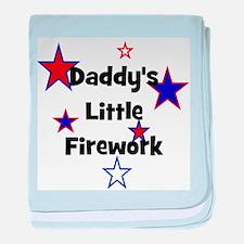 Daddy's Little Firework baby blanket