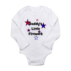 Daddy's Little Firework Long Sleeve Infant Bodysui