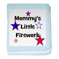 Mommy's Little Firework baby blanket