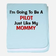 Pilot Mommy Profession baby blanket