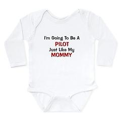 Pilot Mommy Profession Long Sleeve Infant Bodysuit