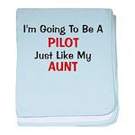 PIlot Aunt Profession baby blanket