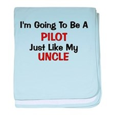Pilot Uncle Profession baby blanket