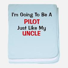 Pilot Uncle Profession baby blanket