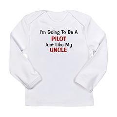 Pilot Uncle Profession Long Sleeve Infant T-Shirt