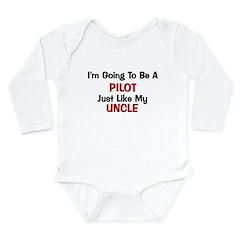 Pilot Uncle Profession Long Sleeve Infant Bodysuit