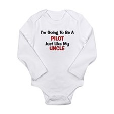 Pilot Uncle Profession Long Sleeve Infant Bodysuit