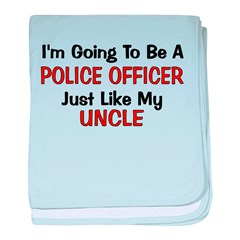 Police Officer Uncle Professi baby blanket