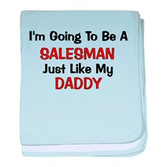 Salesman Daddy Profession baby blanket