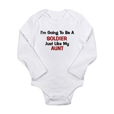 Solider Aunt Profession Long Sleeve Infant Bodysui