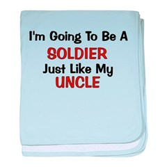 Soldier Uncle Profession baby blanket
