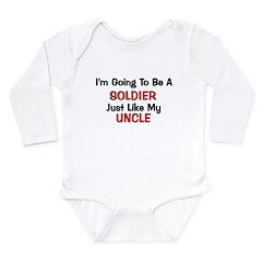 Soldier Uncle Profession Long Sleeve Infant Bodysu