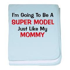 Super Model Mommy Profession baby blanket