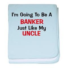 Banker - Uncle - Profession baby blanket