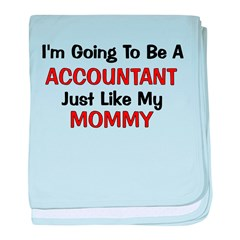 Accountant Mommy Profession baby blanket
