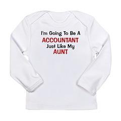 Accountant Aunt Profession Long Sleeve Infant T-Sh