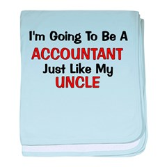Accountant Uncle Profession baby blanket