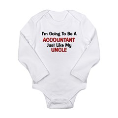 Accountant Uncle Profession Long Sleeve Infant Bod