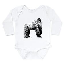 Gorilla Long Sleeve Infant Bodysuit
