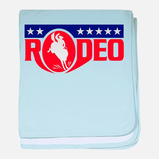 rodeo cowboy bronco baby blanket