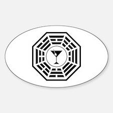 Martini Station Sticker (Oval)