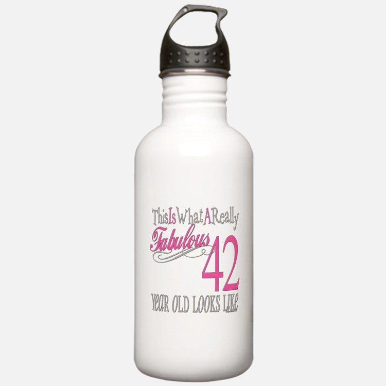 42nd Birthday Gifts Water Bottle